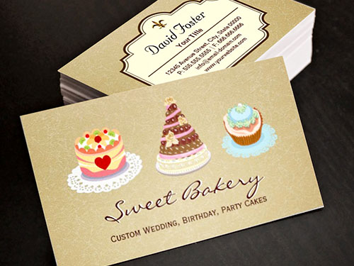Free Business Cards For Cakes Choice Image Card Design And Cake Images