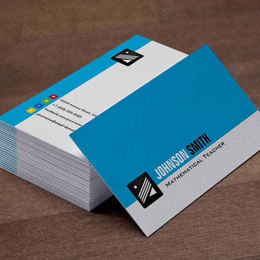 Minimalist Classroom Noise : Featured business card templates bizcardstudio