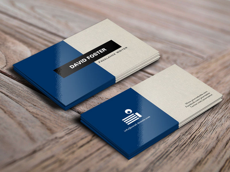 Customizable Freelance Writer - Simple Elegant Stylish Business Cards