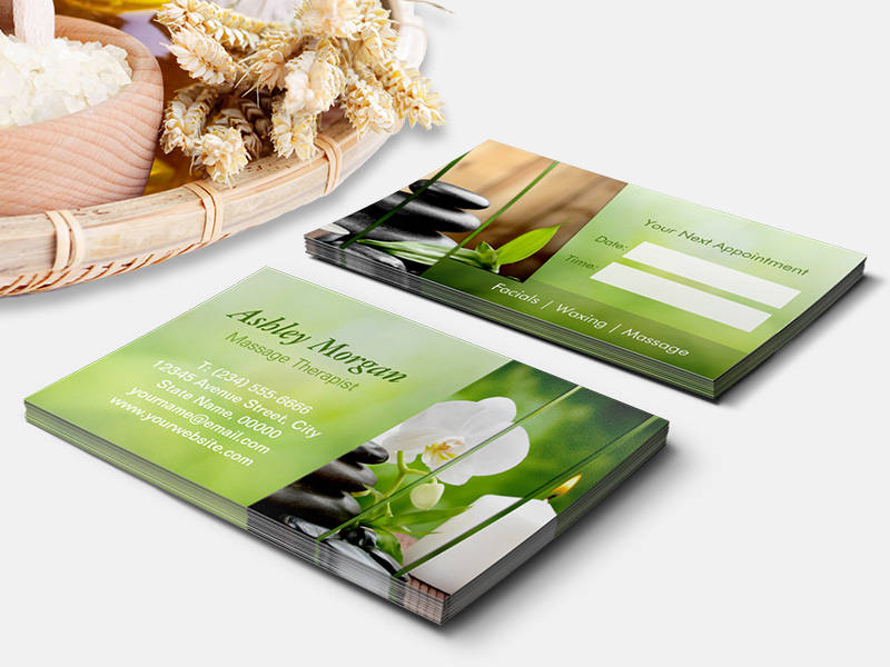 Make your own business card from 20000 designs bizcardstudio customizable massage therapist meditation salon appointment business card template friedricerecipe Images