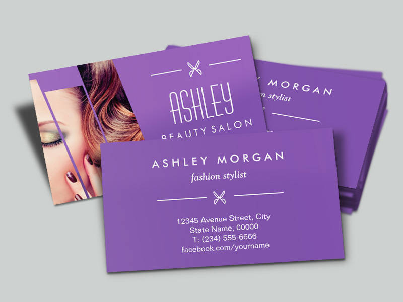 Makeup Artist And Hair Stylist Business Cards Gallery - Card Design ...