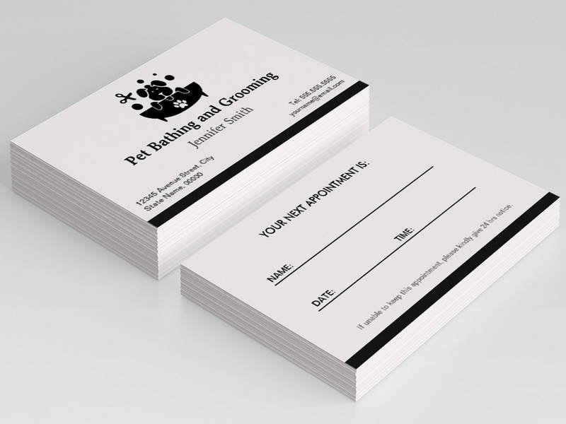 appointment business card template .