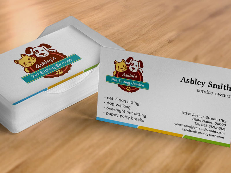 pet sitting business cards examples - Military.bralicious.co