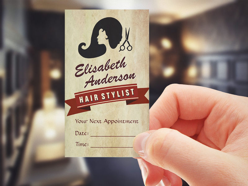 Make your own business card from 20000 designs bizcardstudio customizable retro beauty hair salon stylist appointment business card reheart Image collections