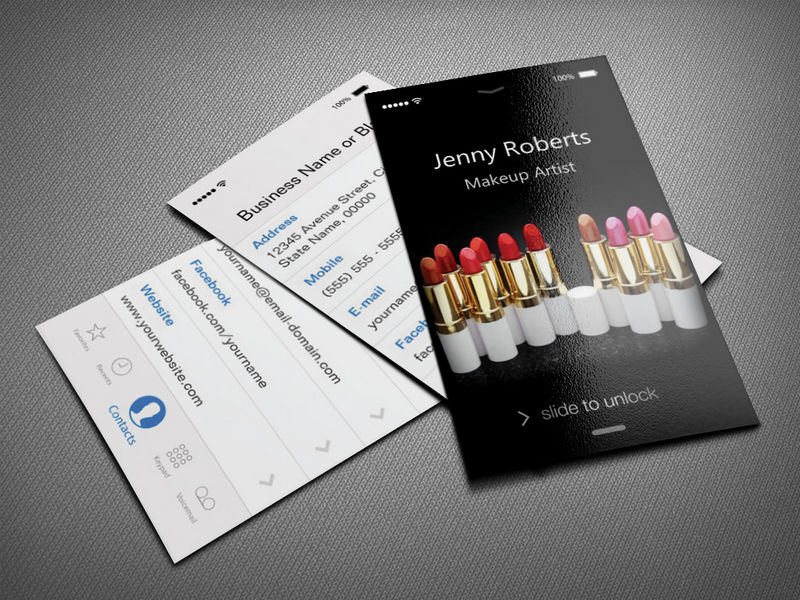 makeup artist business cards ideas - Fieldstation.co