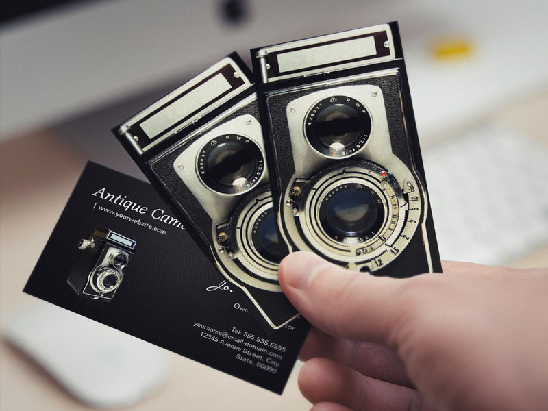 Customizable Vintage Antique Camera Collector Store Business Card Templates