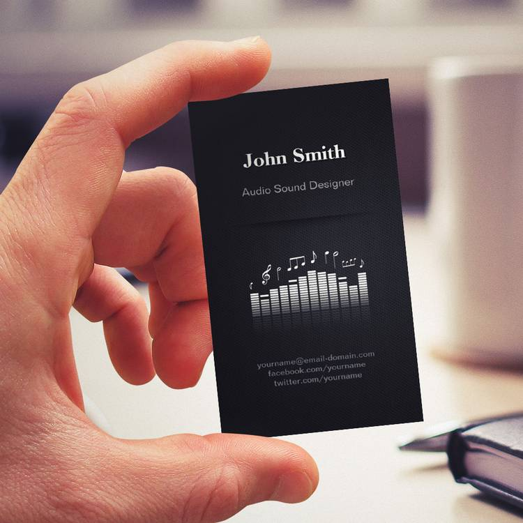 Customizable Acoustic Audio Sound Designer Engineer Director Business Card Templates
