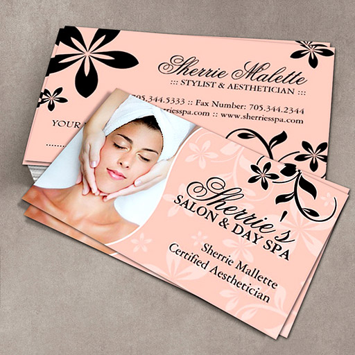 Aesthetician business cards wajeb Images