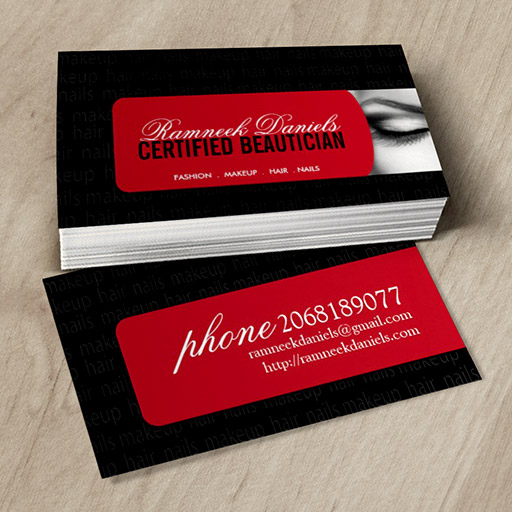 Customizable Beautician Business Card