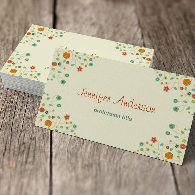 Customizable Beautiful Chic Nature Stylish Business Card Templates