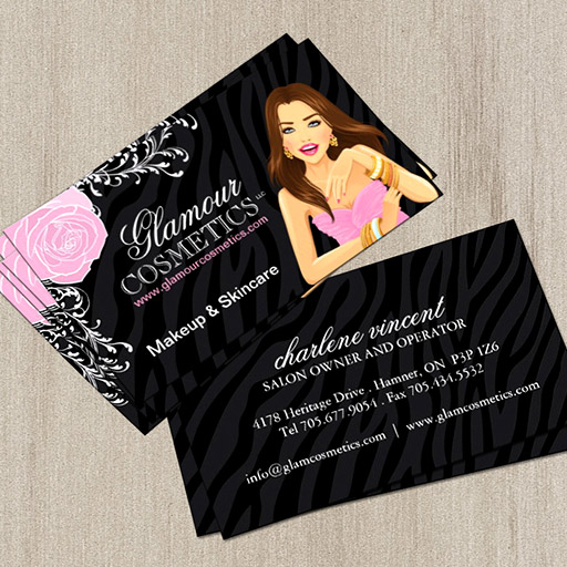 Customizable Beauty Advisor Business Cards