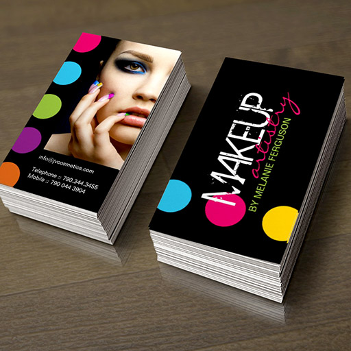 Customizable BOLD and HIP MAKEUP ARTIST BUSINESS CARD