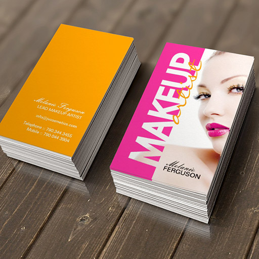 Customizable BOLD MAKEUP ARTIST BUSINESS CARD