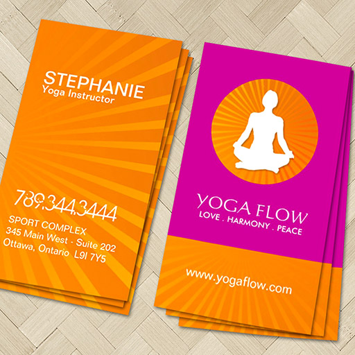 Customizable Bright and Modern Yoga Business Cards