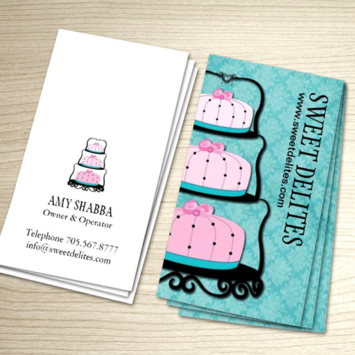 Customizable Cake Designer Business Card