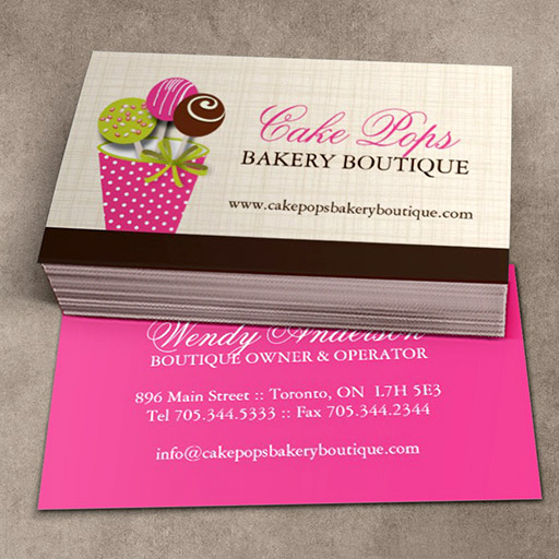 Customizable Cake Pops Business Cards