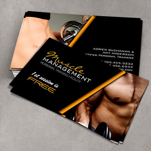 Customizable Certified Personal Trainer Business Cards