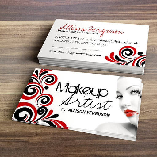 Chic makeup artist business card template flashek Image collections