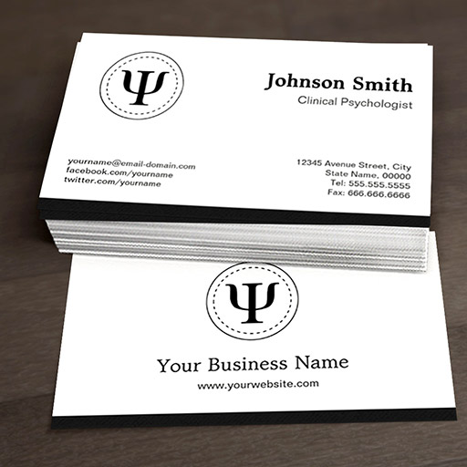 Customizable Clinical Psychologist - Psychology Psi Symbol Business Cards