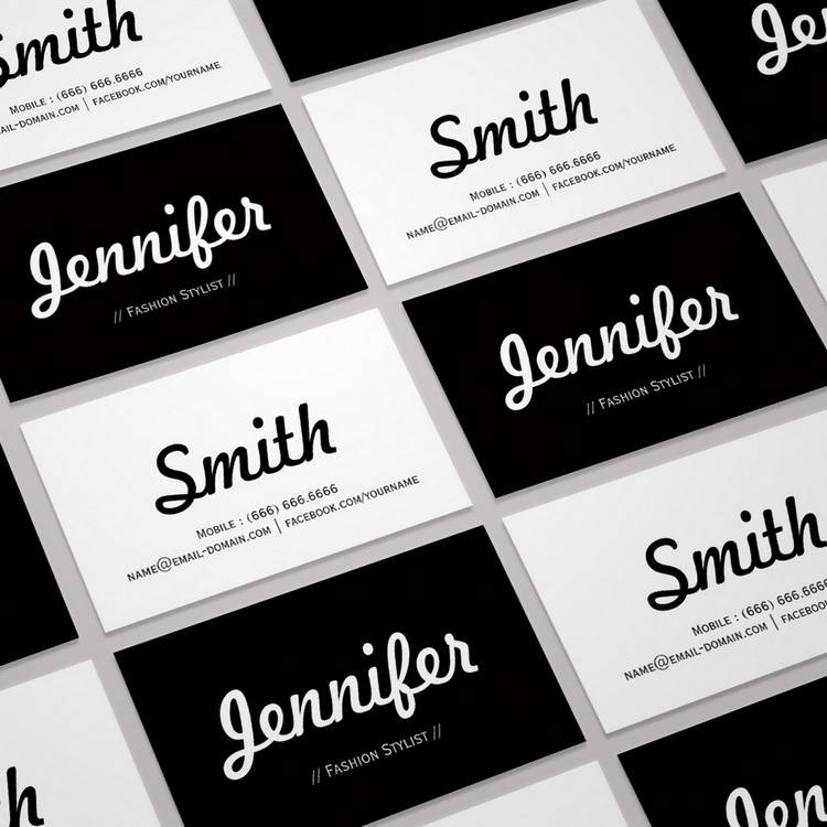 black-white-business-card-templates