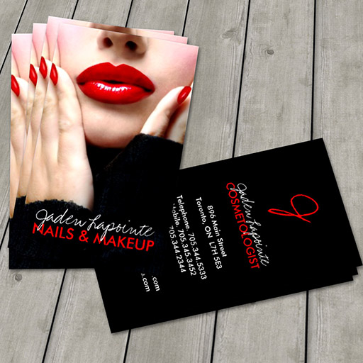 Customizable Cosmetologist Business Card Template
