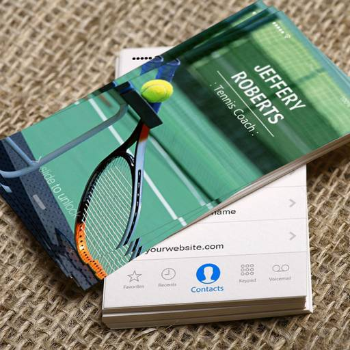 Customizable Creative Tennis Coach Tennis Trainer Business Card
