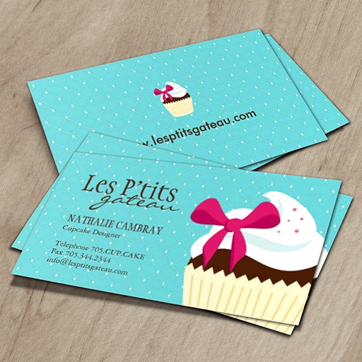 Customizable Cupcake Bakery Business Card