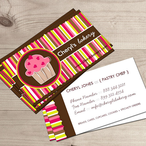 Customizable Cute and Whimsical Cupcake Bakery Business Cards