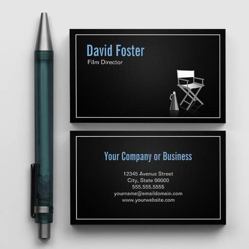 Customizable Director in film television theatrical production business cards