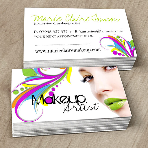Chic makeup artist business card template.