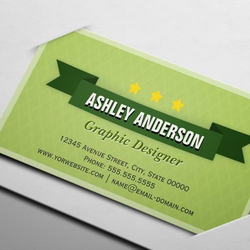 Customizable Elegant Apple Green Retro Style Business Card
