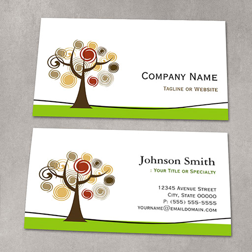 Customizable Elegant Tree of Life - Clean Green Stylish Business Cards