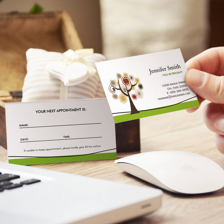 Elegant Tree of Life Symbol - Appointment Business Card Template
