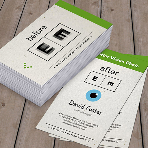 Customizable Eye Doctor Ophthalmology Ophthalmologist Optometry Business Cards