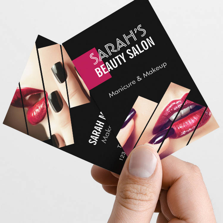 Customizable Fashionable Makeup Lips Beauty Salon Boutique Business Card Template