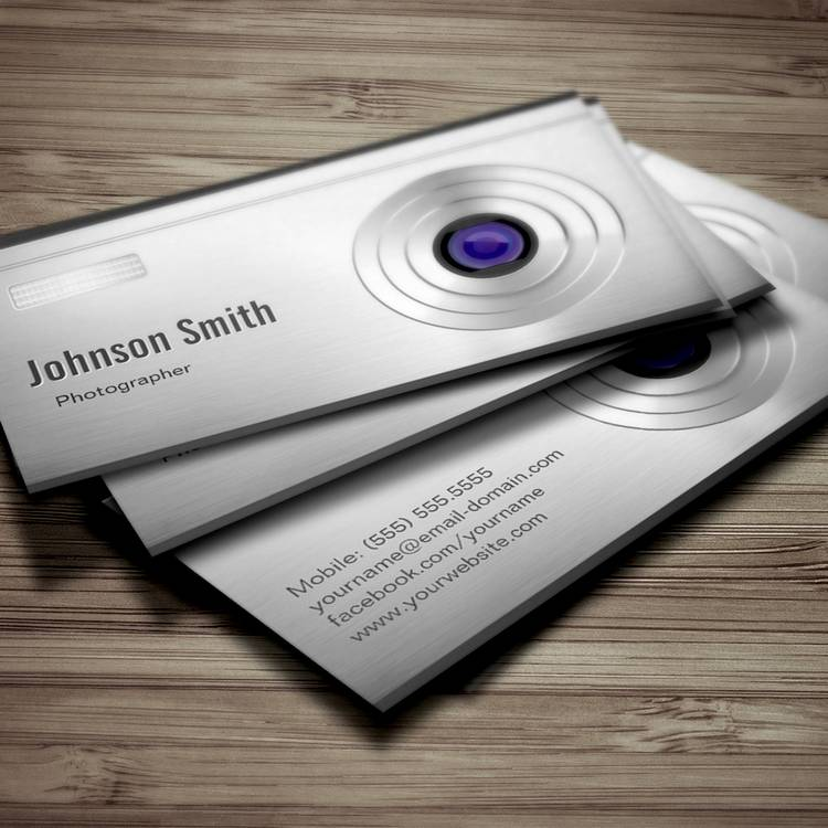 Customizable Featured Digital Camera Lens - Photography Business Cards