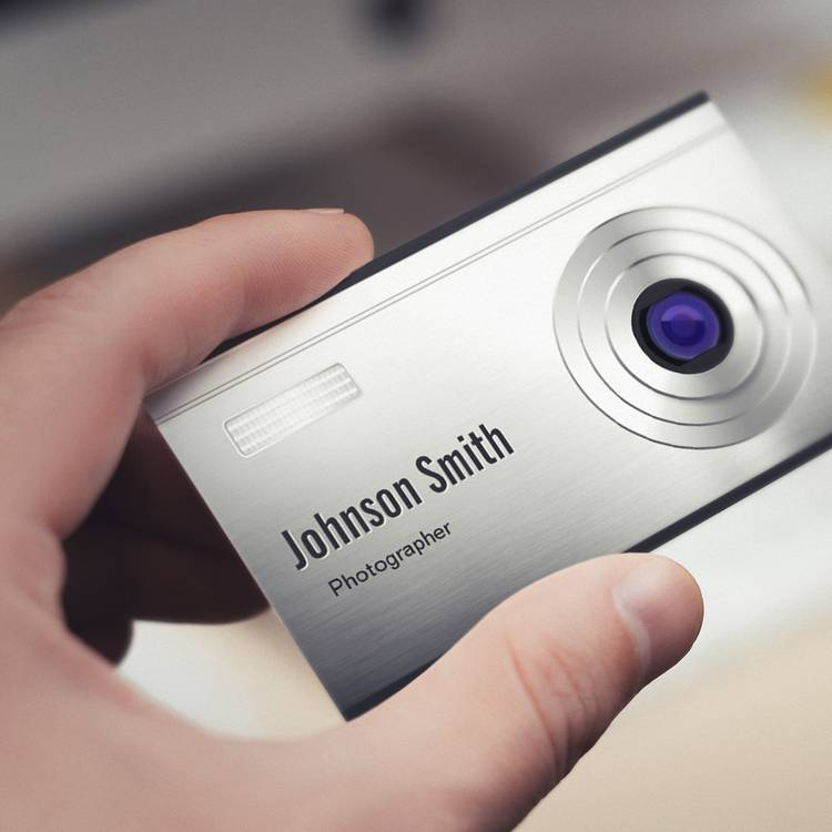 Featured Digital Camera Lens graphy Business Cards