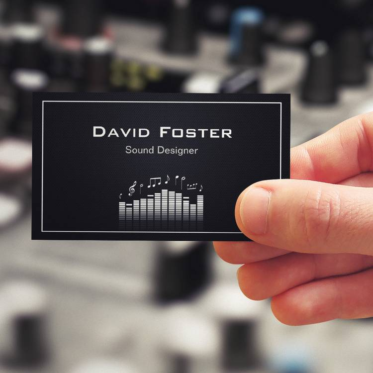 Customizable Film TV Audio Sound Designer Director Business Card