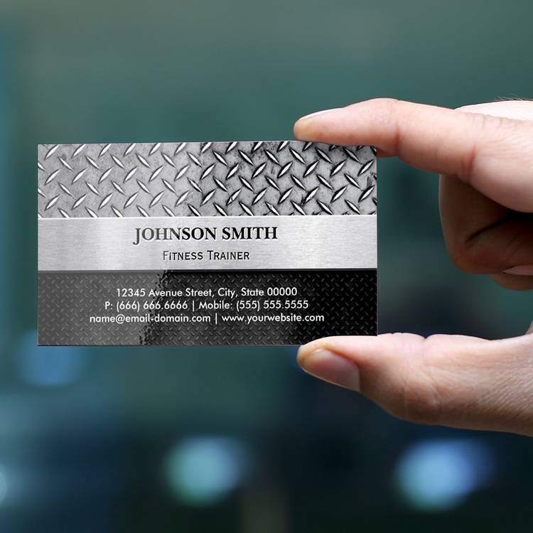300 creative and inspiring business card designs page4 customizable fitness trainer diamond metal plate business card reheart Choice Image