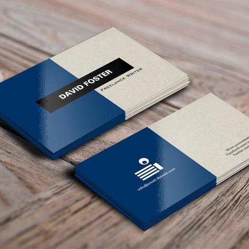 Freelance writer simple elegant stylish business cards for Freelance business cards