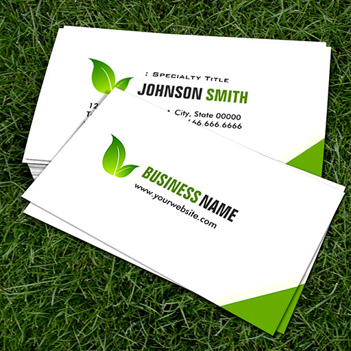 Customizable Green Ecology Bio - Elegant Organic Recyclable Business Card Templates