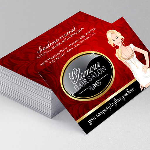 Customizable Hair Salon Business Cards