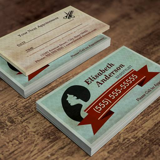 Customizable Hair Salon Hairstylist - Vintage Appointment Card Business Card