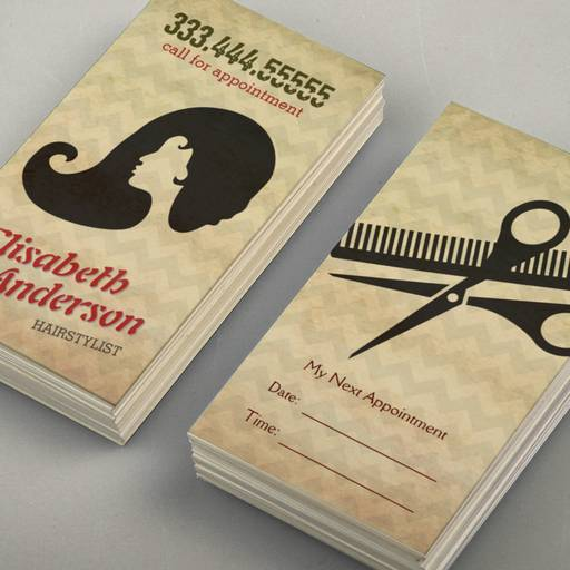Customizable Hairstylist Beauty Salon Appointment Reminder Card Business Card Template