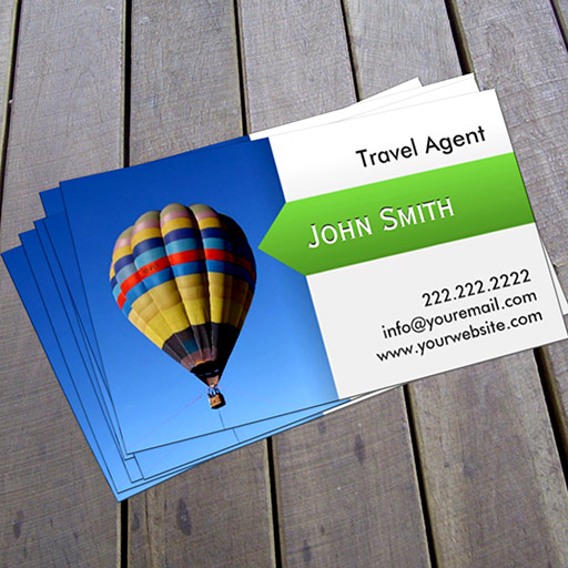 Hot air balloon travel agent business card colourmoves