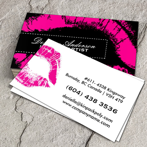 Customizable Hot Pink Makeup Business Cards