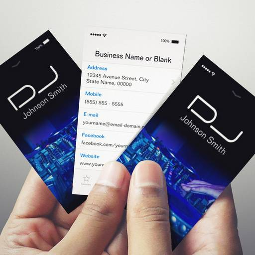 IPhone IOS Style Turntable Scratching Music Dj Business Card - Dj business card template