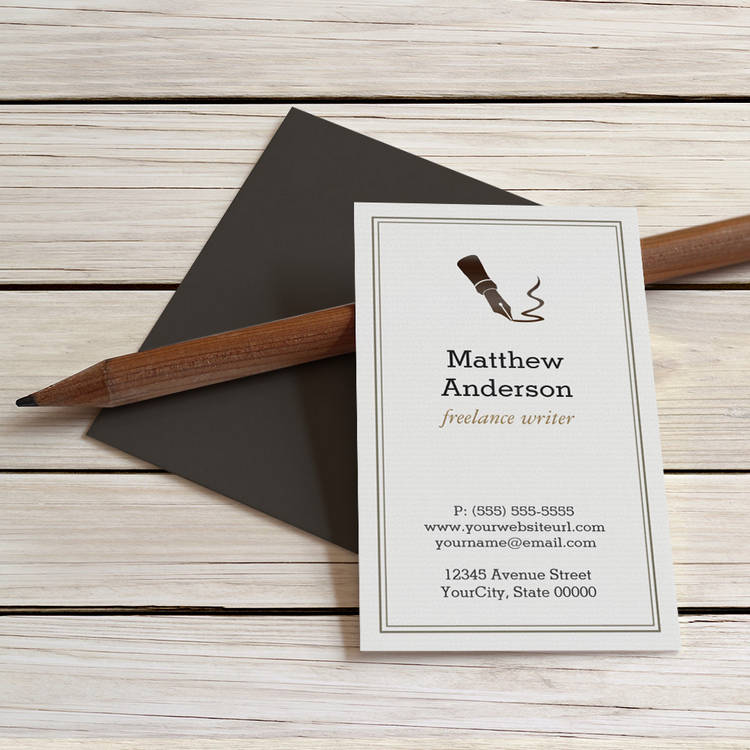 Customizable Journalist Book Editor Novelist - Stylish Classy Business Cards