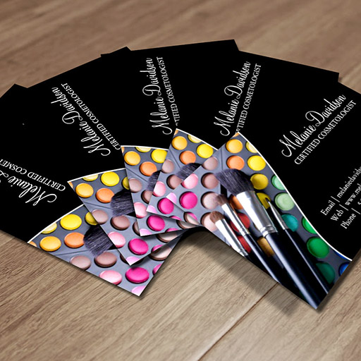 Customizable MAKEUP ARTIST BUSINESS CARD TEMPLATE