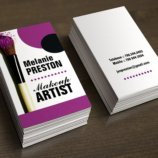 Customizable Makeup Artist Business Cards